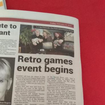 Retro Video Gaming Event Article Bognor Post