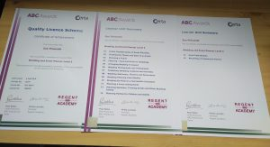 ABC Award Certificate of Achievement