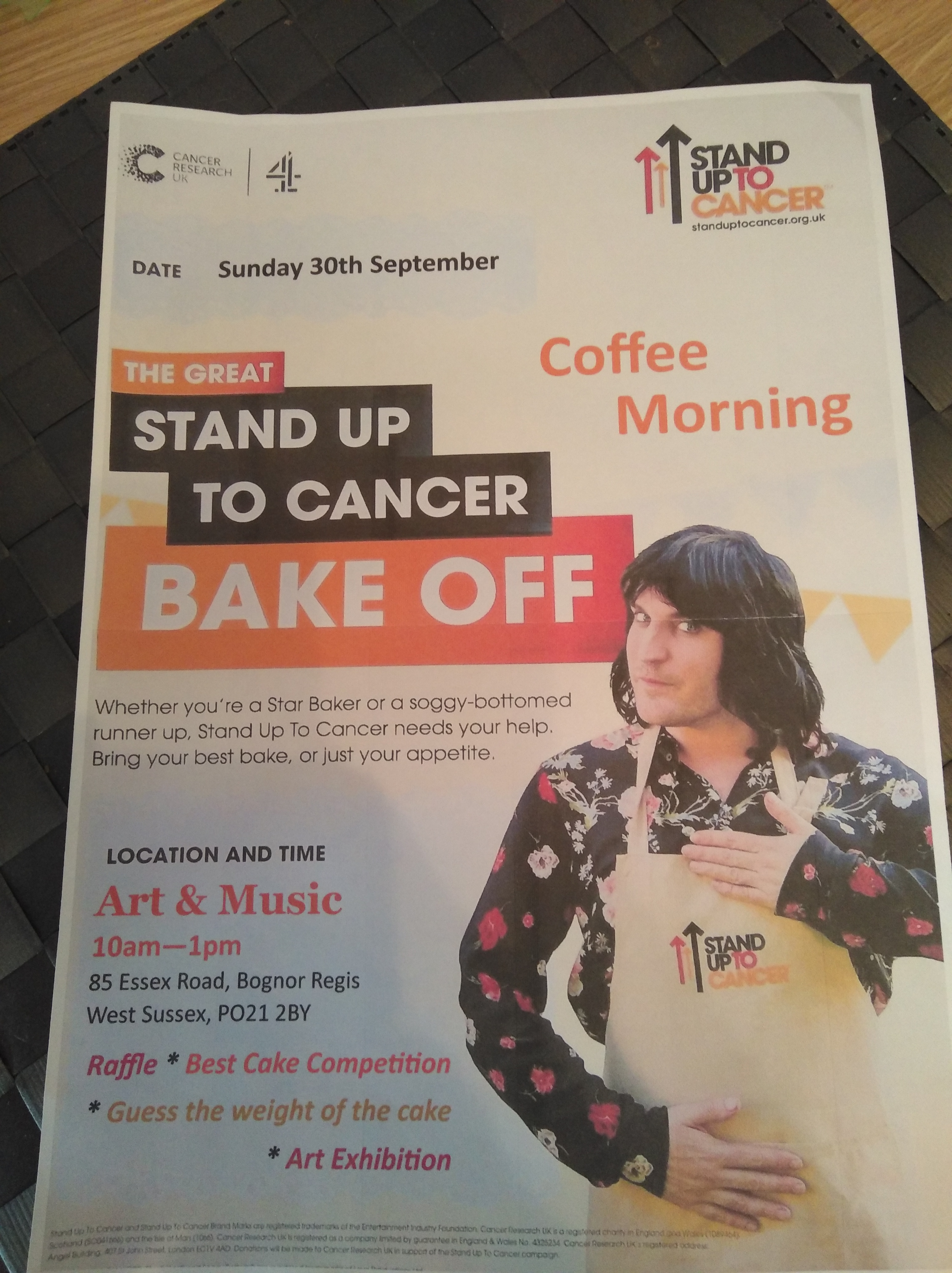 Coffee Morning/ Stand up to Cancer Poster