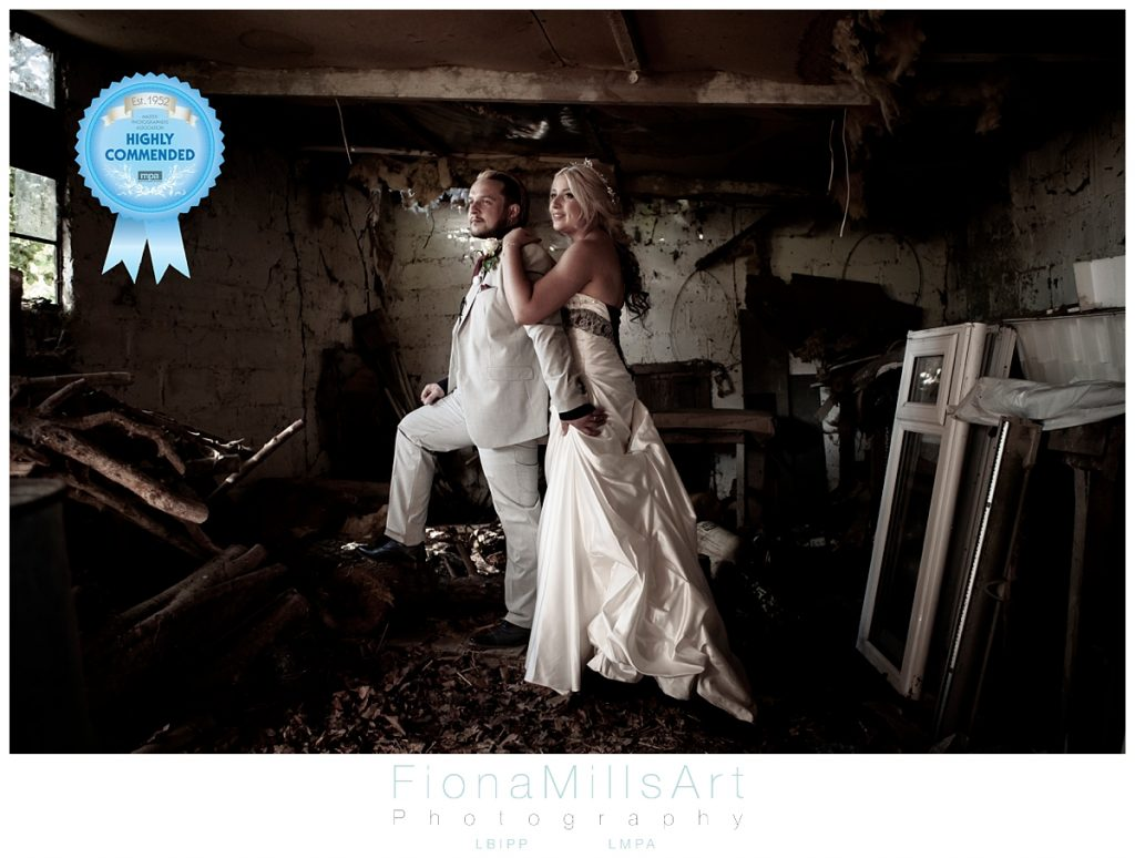 Bride and Groom Black and White by Fiona Mills Photographer