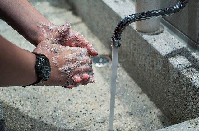 Washing hands during coronavirus pandemic