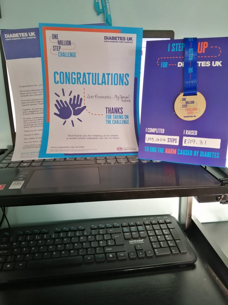 Diabetes 2020 Step Challenge Success 2