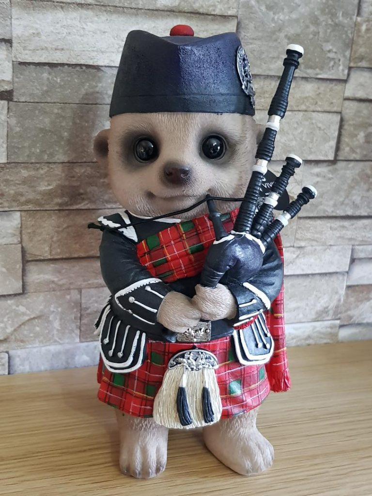 Meerkat with Bagpipes Ornament