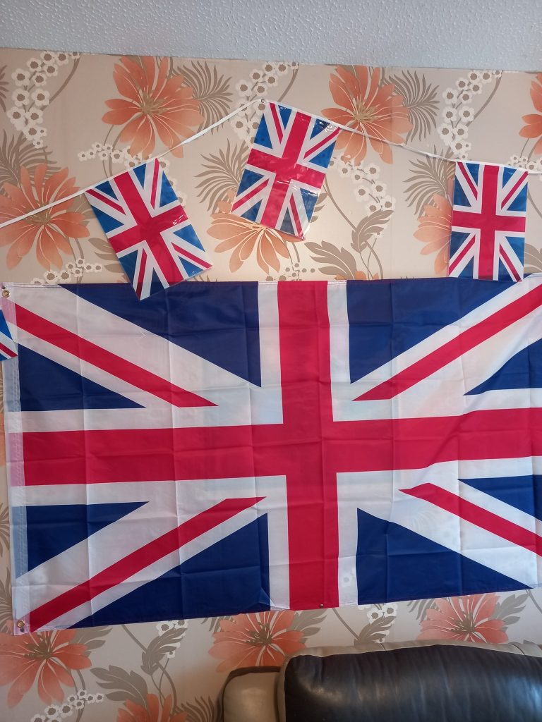 Union Jack and Bunting for Eurovision Party