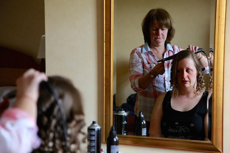 Bridal Hair Preparation