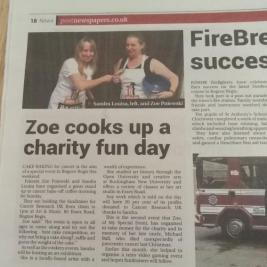 Our Stand up to Cancer Article in Bognor Post